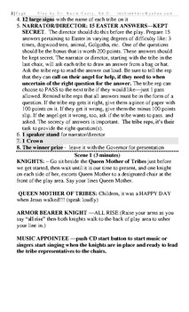 EASTER Play Script:12 TRIBES OF ISRAEL REALITY SHOW - JEOPARDY EASTER EPISODE
