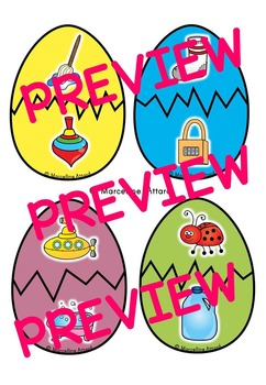 PRESCHOOL EASTER LITERACY CENTER (RHYMING ACTIVITIES KINDERGARTEN, PRESCHOOL)
