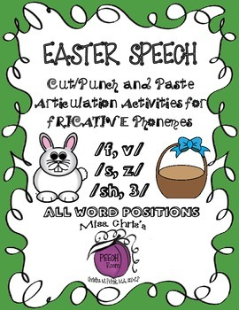 EASTER SPEECH ACTIVITIES for {f-v-s-z-sh-3} EASY FUN