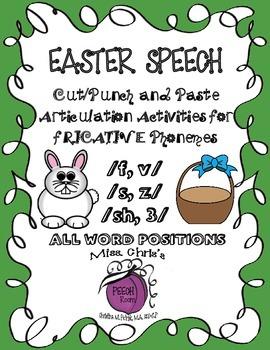 EASTER SPEECH ACTIVITIES for {f-v-s-z-sh-3} EASY FUN