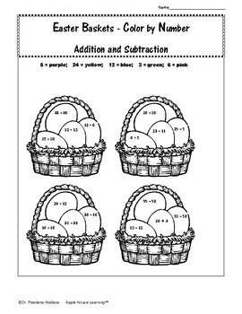SPRING MATH Packet with Graphs (Easter Theme)