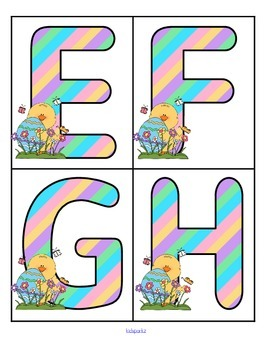 EASTER Alphabet FREE