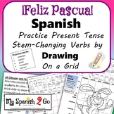 EASTER: Spanish Present Tense Stem-Changing Verbs-Draw on Grid