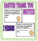 EASTER THANK YOU NOTES TO STUDENTS - 2 VERSIONS