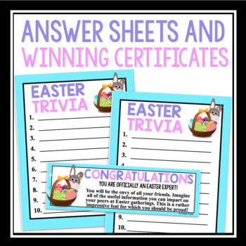 EASTER TRIVIA GAME