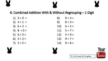 EASTER Theme Math Addition and Subtraction Up to 100