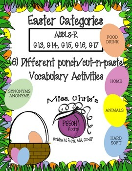 EASTER Themed activities for CATEGORIES/VOCAB EASY FUN!