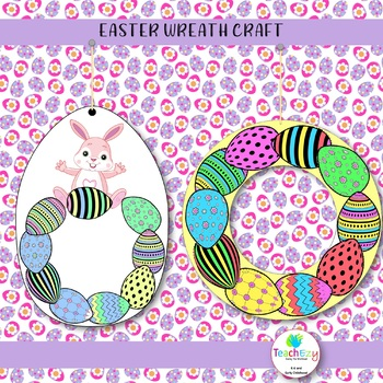 EASTER WREATH CRAFT and GIFT TAG FREEBIE