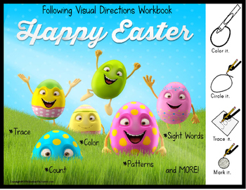 EASTER Workbook for Autism FOLLOWING VISUAL DIRECTIONS