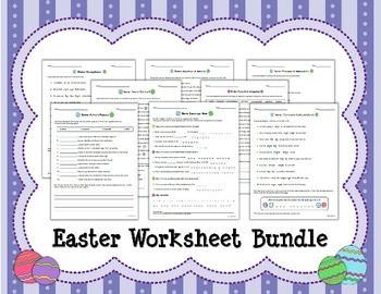 EASTER Worksheet BUNDLE (8 worksheets)