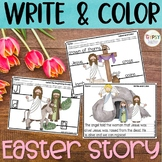 Easter Story Printables - Write & Color