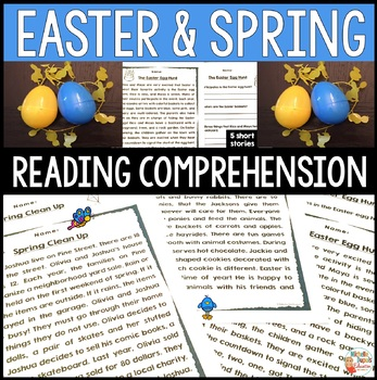 EASTER and SPRING Reading Comprehension Passages