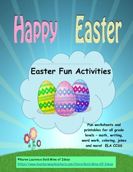 EASTER fun for all!  Writing, Math, Word Work, Art..ELA! Printable