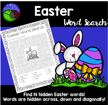 EASTER word search - 14 word -  word sleuth