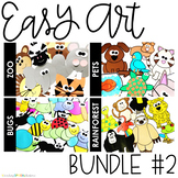 EASY ART BUNDLE TWO: Zoo, Pets, Bugs, and Rainforest Animals