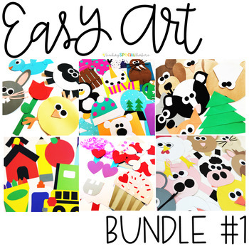Easy Art Bundle One 163 Crafts And Writing Activities Tpt