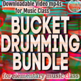 *EASY BUCKET DRUMMING BUNDLE - Downloadable Videos for Music - Distance Learning
