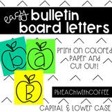 EASY Bulletin Board Letters - Apples!