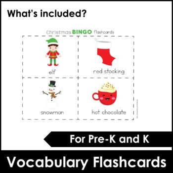 EASY Christmas Bingo and flashcard set