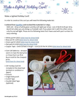 EASY! Create a Light Up Card   STEM, STEAM, LEDs Circuits, Maker Space Activity