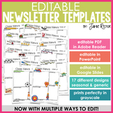 EASY EDIT Newsletter Templates {Now with 3 Options for Editing}