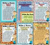 EASY & EDITABLE - Write the Room - WORDS - 7 FALL themes