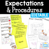 Back to School Procedures & Expectations: Editable