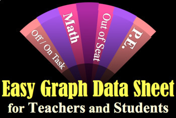 EASY GRAPH All Purpose DATA SHEETS - PE, Reading, Math, Behavior, IEP, SPED