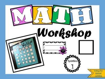 EASY Math Workshop Rotation Board Freebie