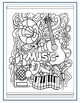 EASY Music Genres Word Search and Coloring Page