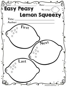 EASY PEASY LEMON SQUEEZY-Reading Graphic Organizers