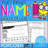 EASY PEASY Name Practice - Back to School - Popcorn Set 2