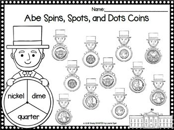 EASY PREP Abraham Lincoln Math and Literacy Center Activities Bundle