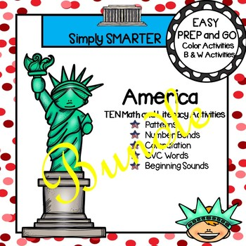 EASY PREP America Math and Literacy Center Activities Bundle