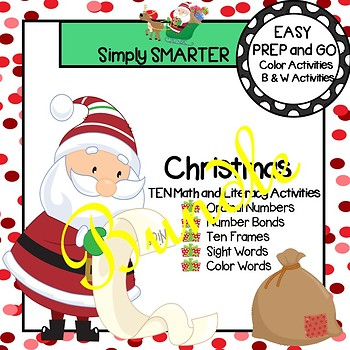 EASY PREP Christmas Math and Literacy Center Activities Bundle