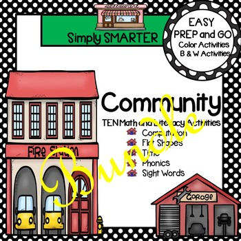 EASY PREP Community Math and Literacy Activities Bundle