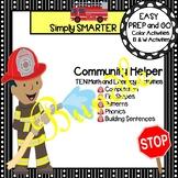 EASY PREP Community Helper Math and Literacy Center Activities Bundle