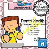 EASY PREP Dental Health Math and Literacy Center Activitie