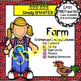 EASY PREP Farm Math and Literacy Center Activities Bundle