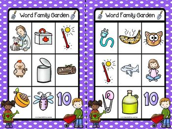 EASY PREP Garden Math and Literacy Center Activities Bundle