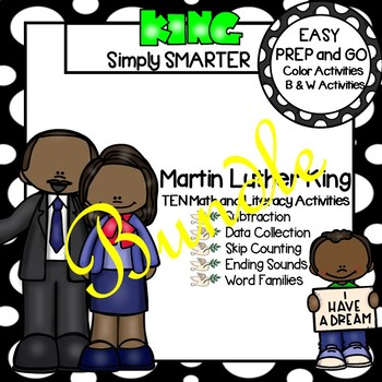 EASY PREP Martin Luther King, Jr., Math and Literacy Center Activities Bundle