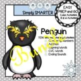 EASY PREP Penguin Math and Literacy Center Activities Bundle