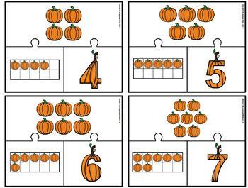 EASY PREP Pumpkin Math and Literacy Center Activities Bundle