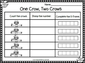 EASY PREP Scarecrow Math and Literacy Center Activities Bundle