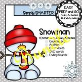 EASY PREP Snowman Math and Literacy Center Activities Bundle