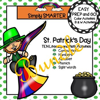 EASY PREP St. Patrick's Day Math and Literacy Activities Bundle