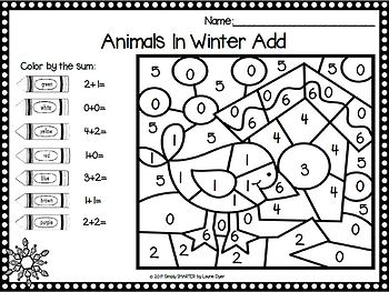 EASY PREP Winter Math and Literacy Center Activities Bundle