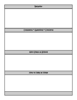 EASY Parent Teacher Conference Form