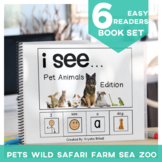 EASY READER I see a... Animal 6 Book BUNDLE  Adapted Book