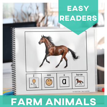 EASY READER I see...+ Noun Farm Animal Edition Adapted Book  Autism